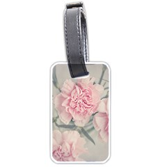 Cloves Flowers Pink Carnation Pink Luggage Tags (one Side)