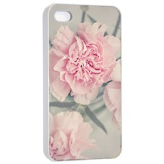 Cloves Flowers Pink Carnation Pink Apple Iphone 4/4s Seamless Case (white)