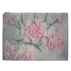 Cloves Flowers Pink Carnation Pink Cosmetic Bag (XXL)