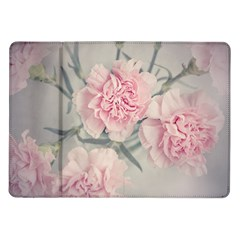 Cloves Flowers Pink Carnation Pink Samsung Galaxy Tab 10 1  P7500 Flip Case