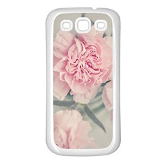 Cloves Flowers Pink Carnation Pink Samsung Galaxy S3 Back Case (white)