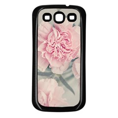 Cloves Flowers Pink Carnation Pink Samsung Galaxy S3 Back Case (black)