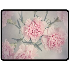Cloves Flowers Pink Carnation Pink Double Sided Fleece Blanket (large)