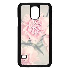 Cloves Flowers Pink Carnation Pink Samsung Galaxy S5 Case (black)