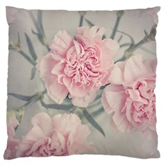 Cloves Flowers Pink Carnation Pink Large Flano Cushion Case (one Side)