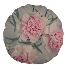 Cloves Flowers Pink Carnation Pink Large 18  Premium Flano Round Cushions