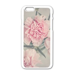 Cloves Flowers Pink Carnation Pink Apple Iphone 6/6s White Enamel Case