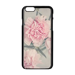 Cloves Flowers Pink Carnation Pink Apple Iphone 6/6s Black Enamel Case