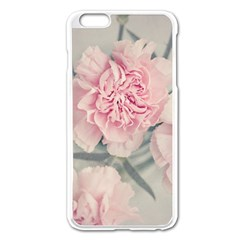 Cloves Flowers Pink Carnation Pink Apple Iphone 6 Plus/6s Plus Enamel White Case