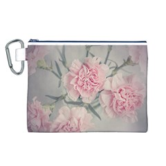 Cloves Flowers Pink Carnation Pink Canvas Cosmetic Bag (l)