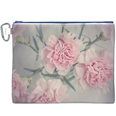 Cloves Flowers Pink Carnation Pink Canvas Cosmetic Bag (xxxl)