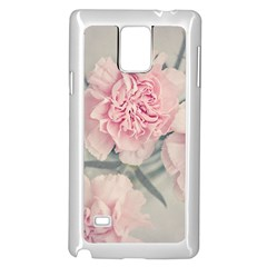 Cloves Flowers Pink Carnation Pink Samsung Galaxy Note 4 Case (white)