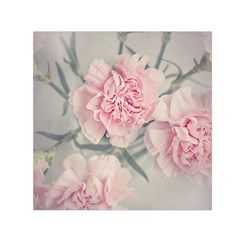 Cloves Flowers Pink Carnation Pink Small Satin Scarf (square)