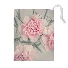 Cloves Flowers Pink Carnation Pink Drawstring Pouches (extra Large)