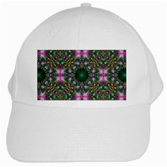 Digital Kaleidoscope White Cap