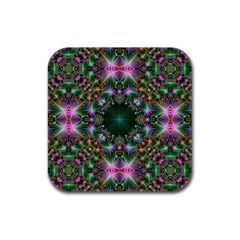 Digital Kaleidoscope Rubber Coaster (square)