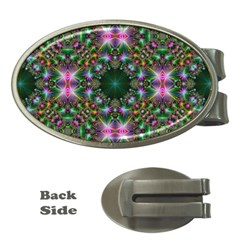Digital Kaleidoscope Money Clips (Oval)
