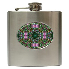 Digital Kaleidoscope Hip Flask (6 Oz)