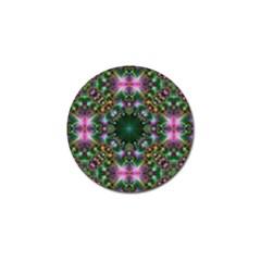Digital Kaleidoscope Golf Ball Marker
