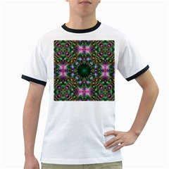 Digital Kaleidoscope Ringer T Shirts