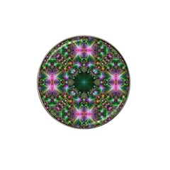 Digital Kaleidoscope Hat Clip Ball Marker