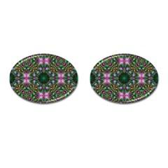 Digital Kaleidoscope Cufflinks (oval)