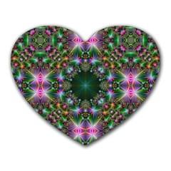 Digital Kaleidoscope Heart Mousepads