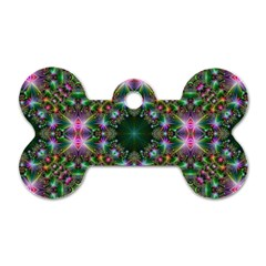 Digital Kaleidoscope Dog Tag Bone (two Sides)