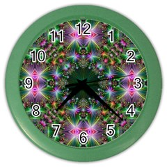 Digital Kaleidoscope Color Wall Clocks
