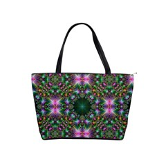 Digital Kaleidoscope Shoulder Handbags
