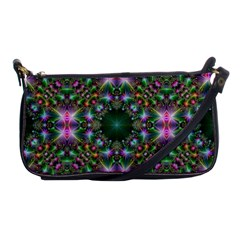 Digital Kaleidoscope Shoulder Clutch Bags