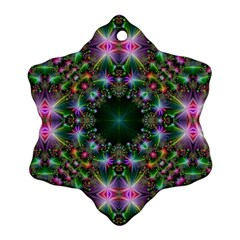 Digital Kaleidoscope Snowflake Ornament (2 Side)