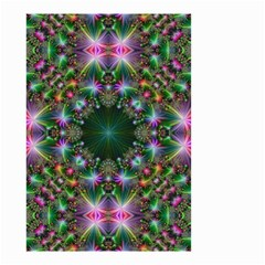 Digital Kaleidoscope Small Garden Flag (two Sides)