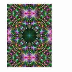 Digital Kaleidoscope Large Garden Flag (two Sides)