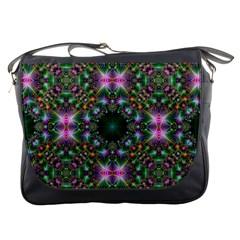 Digital Kaleidoscope Messenger Bags