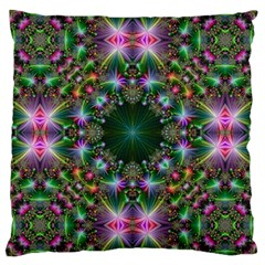 Digital Kaleidoscope Large Cushion Case (one Side)