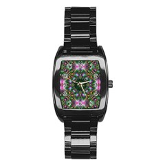 Digital Kaleidoscope Stainless Steel Barrel Watch