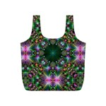 Digital Kaleidoscope Full Print Recycle Bags (S)  Front