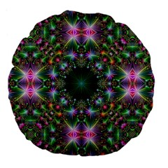 Digital Kaleidoscope Large 18  Premium Flano Round Cushions