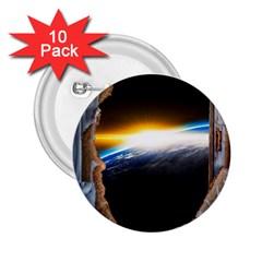 Door Breakthrough Door Sunburst 2 25  Buttons (10 Pack)