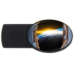 Door Breakthrough Door Sunburst Usb Flash Drive Oval (2 Gb)