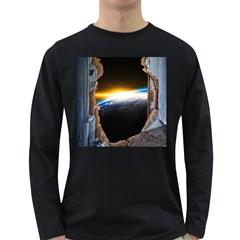 Door Breakthrough Door Sunburst Long Sleeve Dark T Shirts