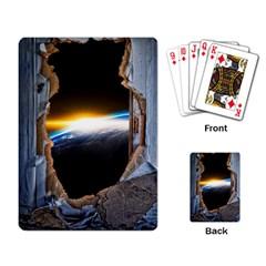Door Breakthrough Door Sunburst Playing Card