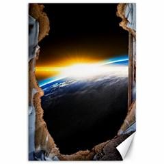 Door Breakthrough Door Sunburst Canvas 12  x 18
