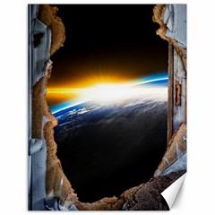Door Breakthrough Door Sunburst Canvas 18  x 24