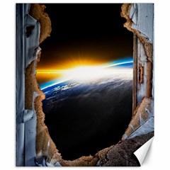 Door Breakthrough Door Sunburst Canvas 20  X 24