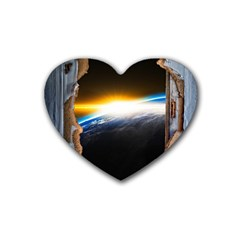 Door Breakthrough Door Sunburst Heart Coaster (4 pack)