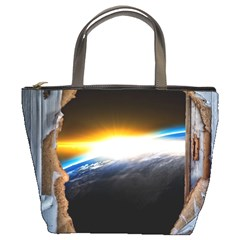 Door Breakthrough Door Sunburst Bucket Bags