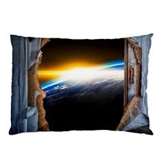 Door Breakthrough Door Sunburst Pillow Case