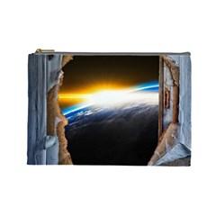 Door Breakthrough Door Sunburst Cosmetic Bag (large)